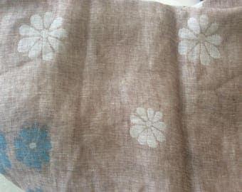 145 cm wide taupe color linen fabrics