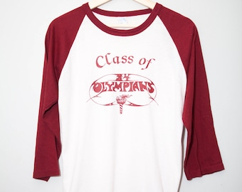 Vintage 1970's Class Of Olympians Raglan Shirt | Size Medium