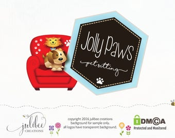 pet photography logo premade logo photography logos dog sitting logo dog logo pet logo dog groomer logo branding package logo design