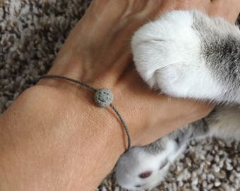 Lava Rock Bracelet Essential oil Bracelet Aromatherapy Jewelry Mens Bracelet Black Cord Bracelet Gift for him Surfer Bracelet Waterproof