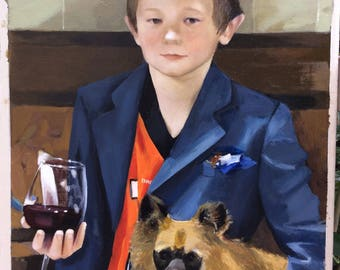 Commission portrait, commission oil painting, child oil portrait, custom portrait from photo, custom oil painting on canvas