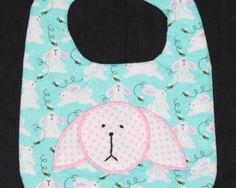 Easter Bunny Baby Bib - Pink