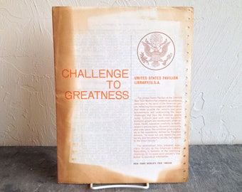 Challenge To Greatness United States Pavilion Library New York World's Fair