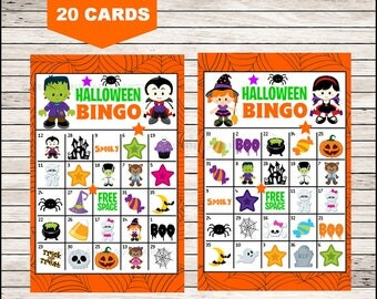 It is a picture of Eloquent 25 Printable Halloween Bingo Cards