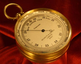 Rare Antique Victorian Compendium Comprising Pocket Barometer Altimeter and Compass by Negretti & Zambra No 12467 c1890