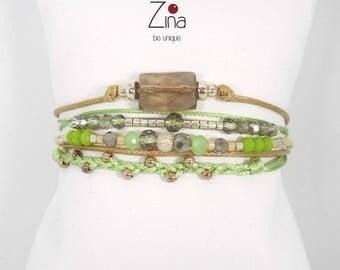 Bracelet multi-row Caleen
