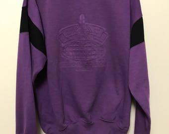 Vintage Vetements de sport Milan Purple crewneck sweater by Bonjour Size medium Rare 90's Fresh prince