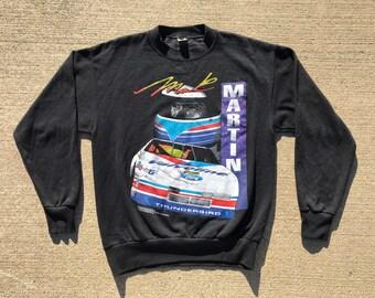 Vintage NASCAR Crewneck sweater Mark Martin #6 Mint condition big graphics 90's Size large jeff gordon wrap around print
