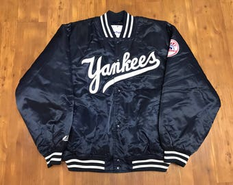 New York Yankees World Series Jacket 2000' MLB baseball Bomber jacket flight jacket Majestic Championship jacket XL unisex
