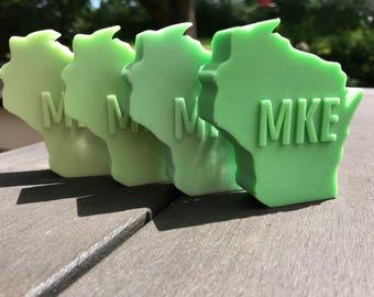 Milwaukee Soap /  Wisconsin Shaped Soap / Glycerin Soap