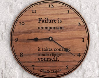 Failure Quotes - Quotes on Failure - Courage Quotes - Foolish Quotes - Quotes on Mistakes - Failure is Unimportant - Charlie Chaplain