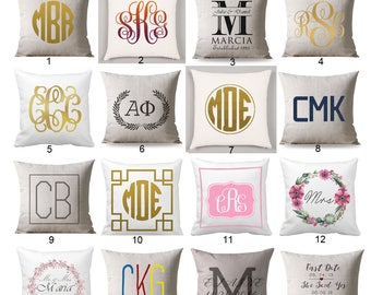 Monogrammed Pillowcase personalized, Monogram Pillow case, Custom Pillowcase, Monogrammed pillow, Pillowcase, Monogrammed Gift