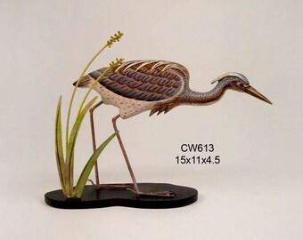 Tricolor Heron Table Top Decoy CW613