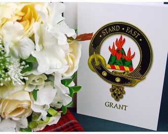 Greeting Cards Clan & Crest - Grant