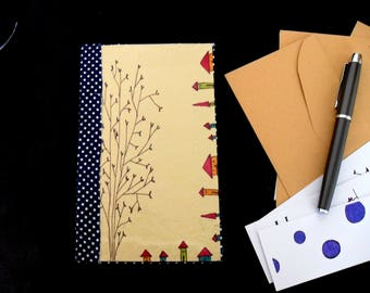 Hand-bound and illustrated notebook