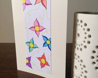 Floral Highlight Greeting Card, Mother's Day/Birthday card/Any Occasion