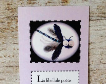 Bookmark with Dragonfly and poem