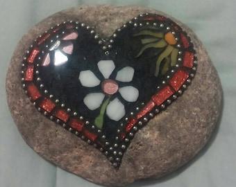 Small garden mosaic stone