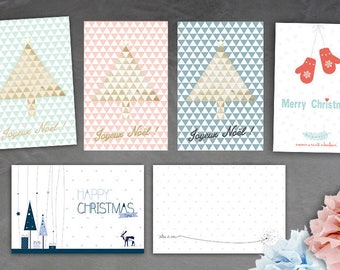 Set of 6 greeting cards - choice