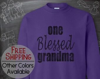 Blessed Grandma Shirt, Blessed Shirt, Blessed Mama Shirt, Popular Sweatshirt, Mimi, Grammy, Granny, Nana, Gigi, Meemaw, Gifts from Kids