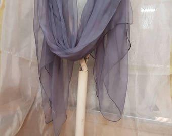 Shawl silk organza