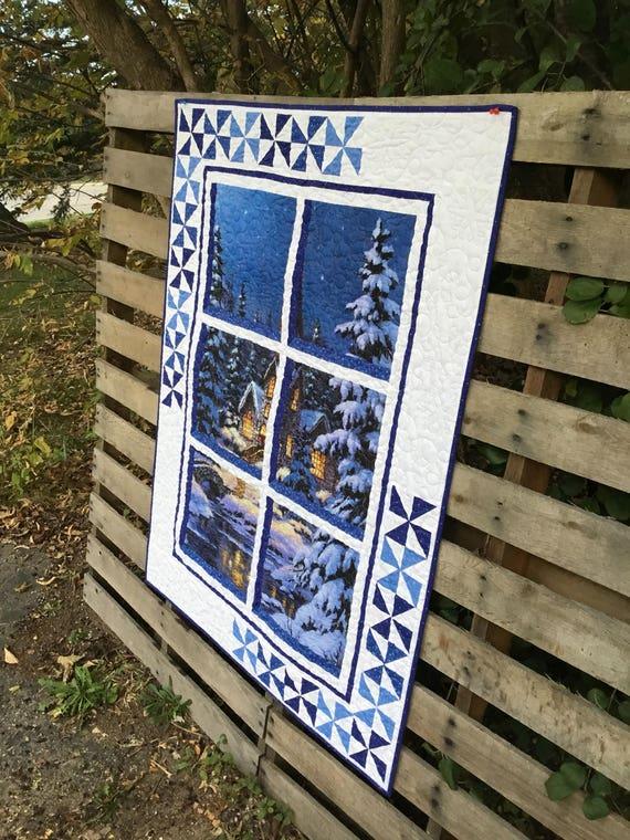 Winter Window Quilt Wall Hanging Kit Northcott Fabric