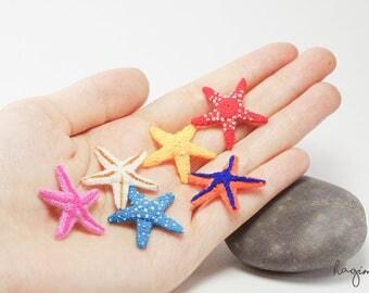 Miniature colorful Starfish - Tiny Amigurumi Starfish – Crochet Starfish – Made To Order
