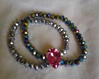 Swarovski crystal and glass pearl bracelet