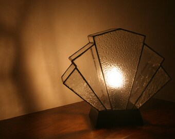Lamp Art Deco stained glass Tiffany Flabellum transparency