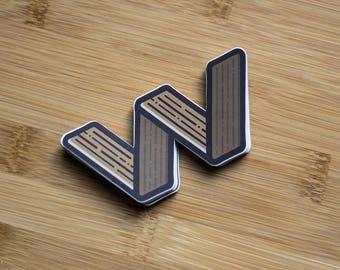 Wood Letter decal Macbook, Sticker Skateboard, decal cars, wooden stickers decal, custom stickers, personalised stickers, alphabet stickers