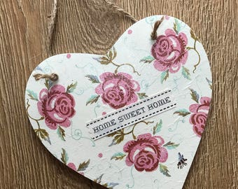 Personalised Hand Decorated Hanging Wooden Heart Emma Bridgewater Designs