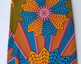 Multicolor African Fabric; Ankara Fabric; African Clothing; African Print; African Headwrap; Ankara Fabric in yard;Ankara; Multicolor Fabric