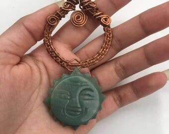 Copper and Adventurine Pendant