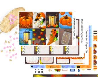 Night Harvest Fall Autumn Classic Happy Planner Weekly Kit