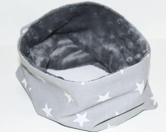Snood gray star baby