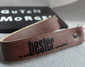 Leather keychain-World best for the best man in the world:-)