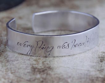 Everything Was Beautiful And Nothing Hurt / Literary Jewelry / Literary Gift / Book Lover's Jewelry / Vonnegut Jewelry / Slaughterhouse Five