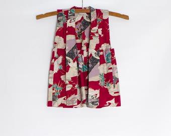 vintage girl's Haori jacket | kid's Japanese kimono robe