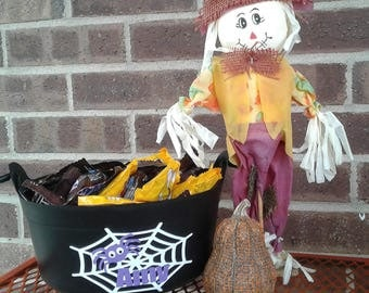 Halloween Candy Bucket, Halloween Candy Cauldron, Halloween Bucket Personalized, Halloween Treat Bucket, Trick-or-treat bucket, Candy Bucket