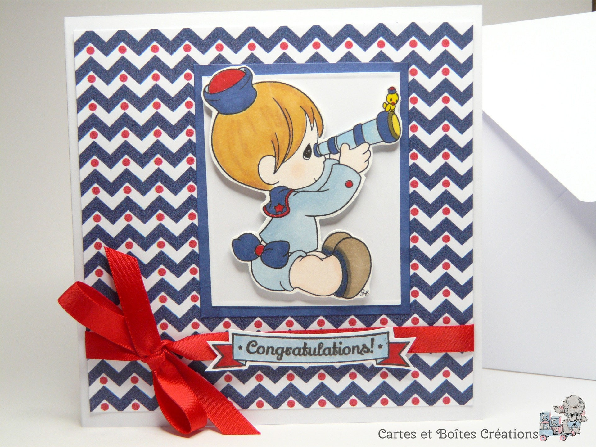 card congratulations birth small sailor free shipping