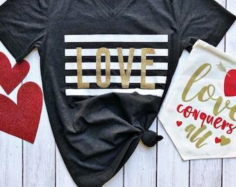 Love • Valentines Shirt • Bella Canvas