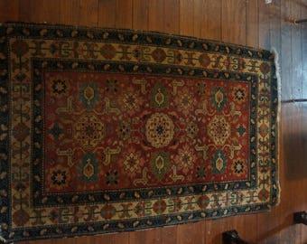 Rare 19th century Kazak rug RARE COLORS
