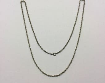 sterling silver rope chain necklace #131