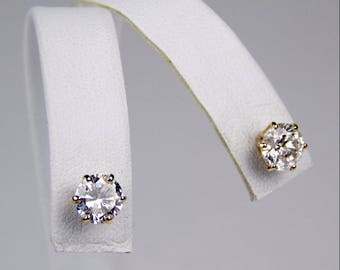14k Gold 2.25 Ctw  diamond stud  earrings #10052