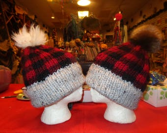 Buffalo plaid hats