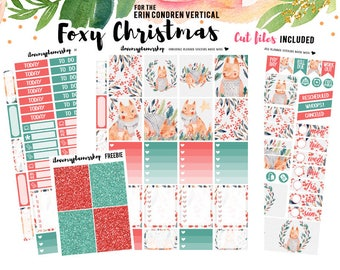 Planner Sticker, Printable Planner Sticker, Printable for Erin Condren Vertical, Christmas Printable Stickers, Winter Printable Planner