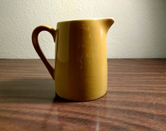 Small Vintage Yellow Milk Pitcher