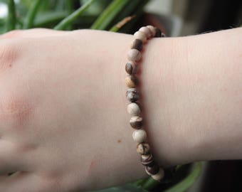 Elasticated Zebra Jasper bracelet.