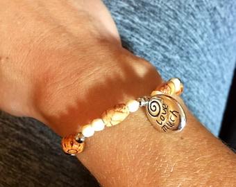 Love laugh neutral bracelet