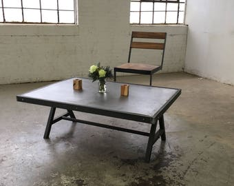 Steel A-Frame Coffee Table